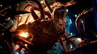 Una captura de pantalla del supervillano Matanza de la película Venom: Habrá Matanza de Sony