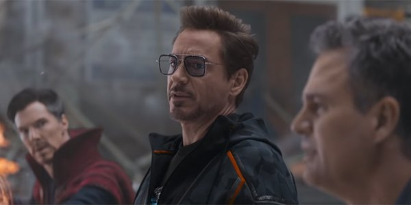 Tony Stark being embarrassed by Bruce Banner in Avengers: Infinity War