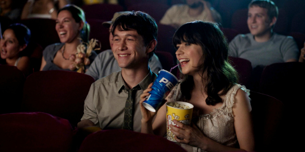 Joseph Gordon Levitt and Zooey Deschanel From 500 Days Of Summer