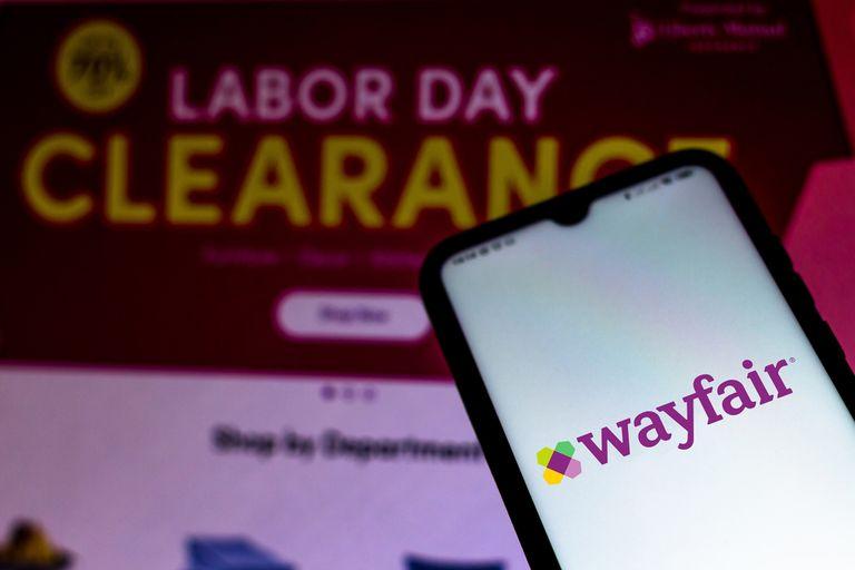Wayfair Labor Day Sale stock photo