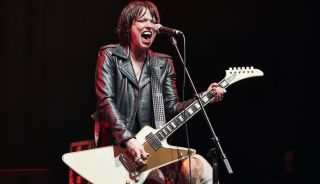 Halestorm's Lzzy Hale performs at the Gibson Live At The Grove event at City National Grove in Anaheim, California, on January 14, 2020
