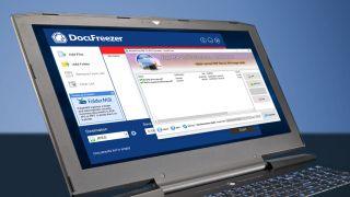 DocuFreezer running on a laptop