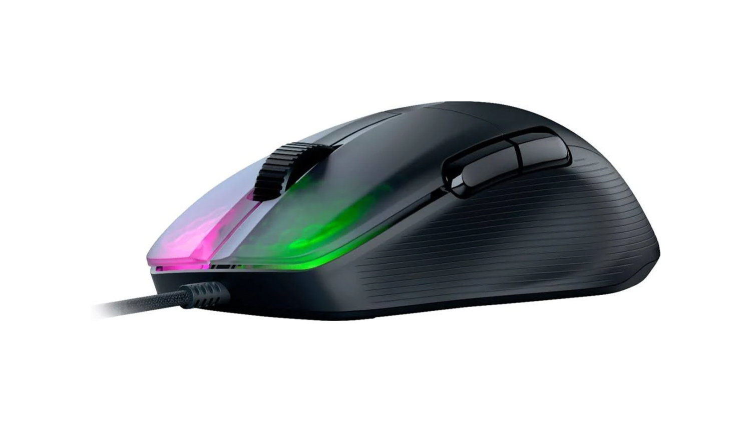 The Roccat Kone Pro is light as a feather yet also as fast as lighting