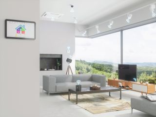 Home automation system in contemporary home to prevent overheating