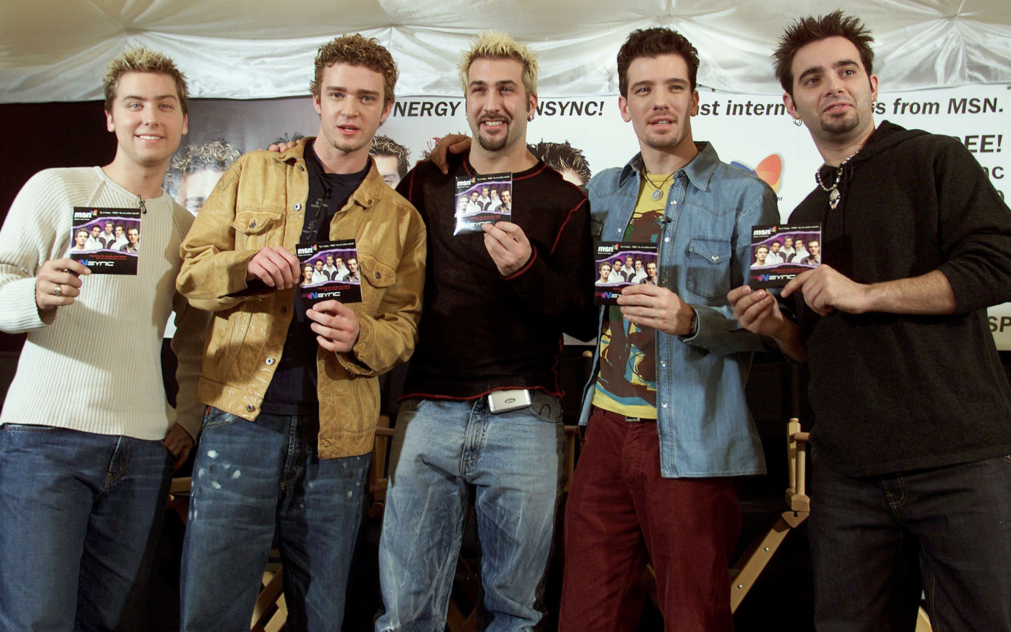 N'Sync promoting their new MSN site