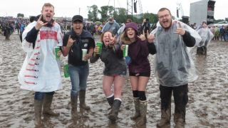Fans are having a ball at Download 2016 despite the mud and rain