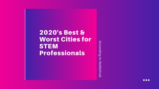 2020's Best and Worst Cities for STEM Professionals