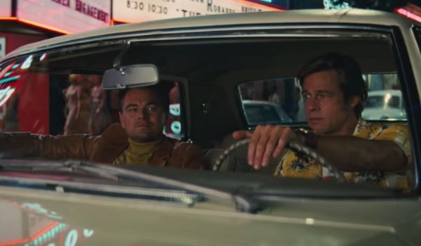 Once Upon A Time In Hollywood Rick and Cliff driving around in LA