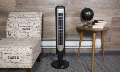 Holmes HT38RB-U Oscillating Tower Fan Review - Power, Noise