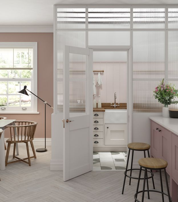 Utility room ideas separated from main kitchen by Masterclass Kitchens
