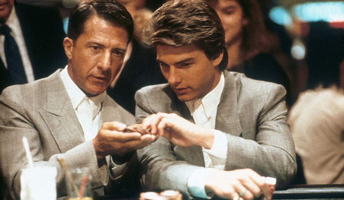 Dustin Hoffman and Tom Cruise at casino in Rain Man