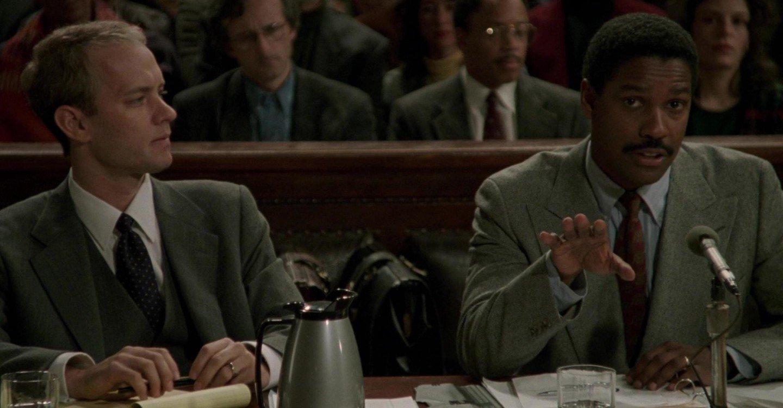 Denzel Washington and Tom Hanks in Philadelphia