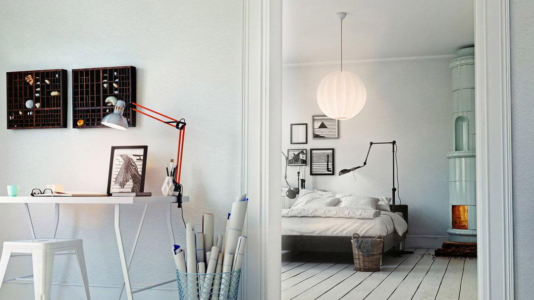 A hallway and bedroom light with LIFX A19 A60 bulbs