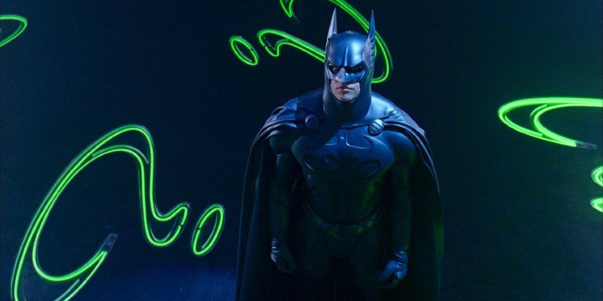 Val Kilmer wearing Batsuit in Batman Forever