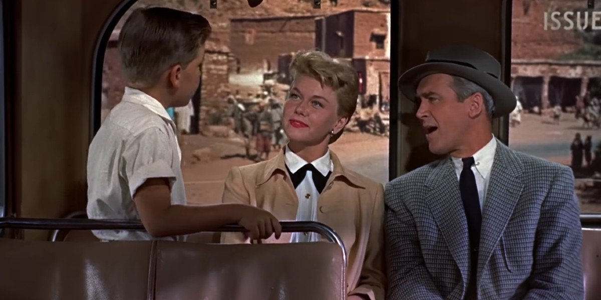 Doris Day, James Stewart, and Christopher Olsen in The Man Who Knew Too Much