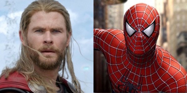 Thor and Raimi's Spider-Man side by side