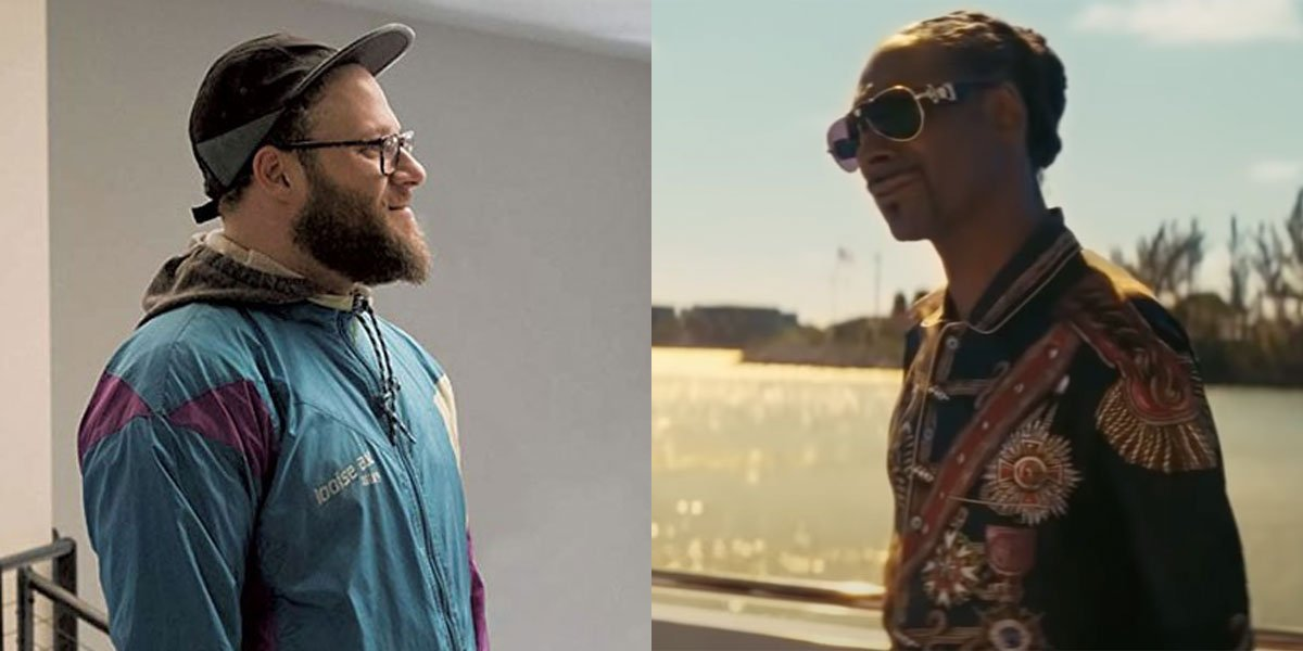 Longshot's Seth Rogen And The Beach Bum's Snoop Dogg Collaboration