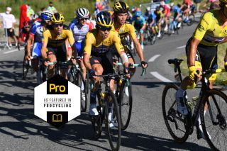 Eventual stage winner Primoz Roglic and his Jumbo-Visma teammates were in control on stage 4 of the 2020 Tour de France