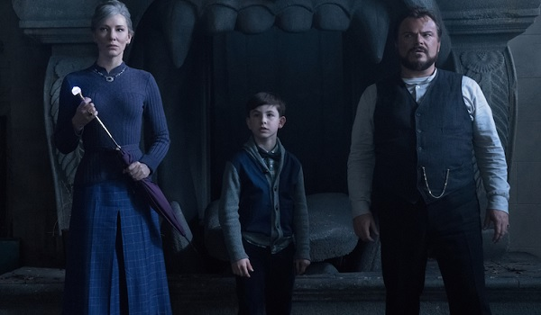 The House With A Clock In Its Walls Cate Blanchett Owen Vaccaro Jack Black prepare for battle in the