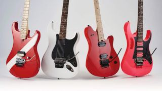 Hard-rocking solidbodies from Ibanez, EVH, Kramer and Squier duke it out