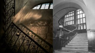 Halloween photography ideas: Shoot ghosts on the staircase