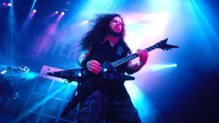 Dimebag Darrell / guitarist of Pantera at the San Diego in San Diego, California