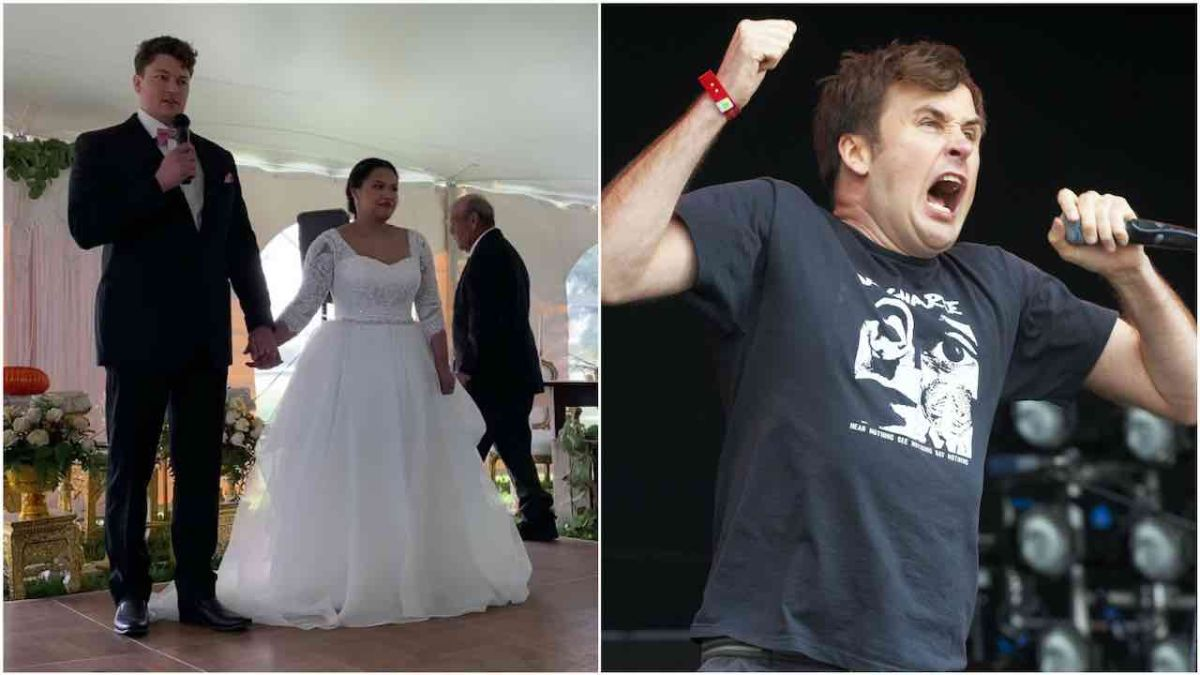 Watch this couple have their first wedding dance to Napalm Death's You Suffer