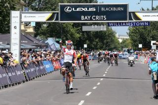 Caleb Ewan (Lotto Soudal) takes the win on day 3 of the 2019 Bay Crits