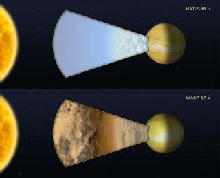 Hubble hot jupiter observations