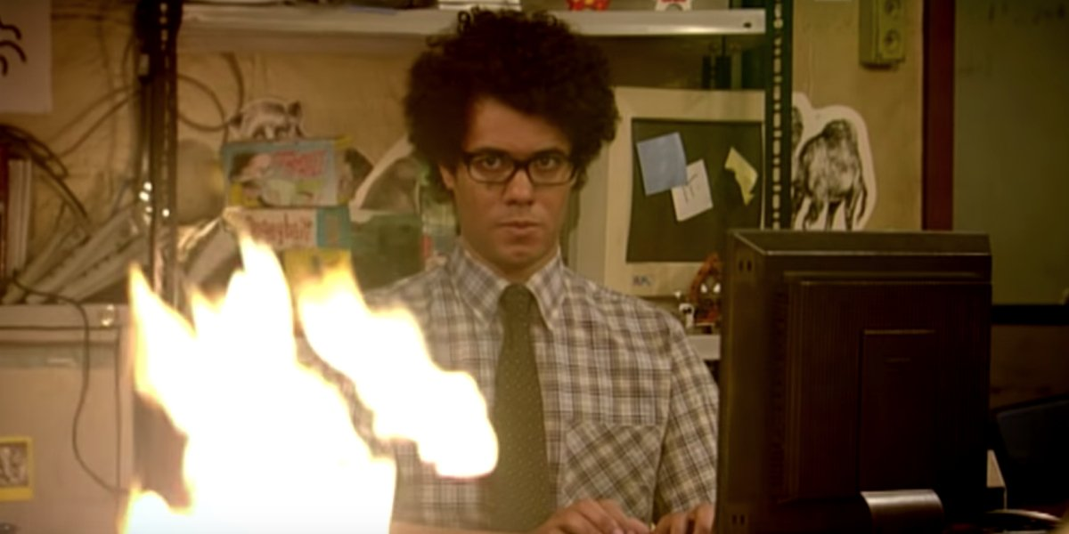 Richard Ayoade as Moss on The IT Crowd