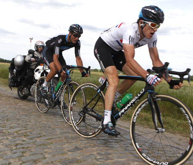 Geraint Thomas and Steve Cummings, Tour de France 2010, stage 3