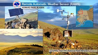 Howards Pass remote weather station