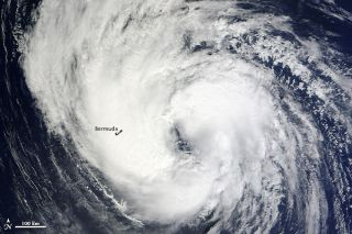 Tropical Storm Leslie over Bermuda