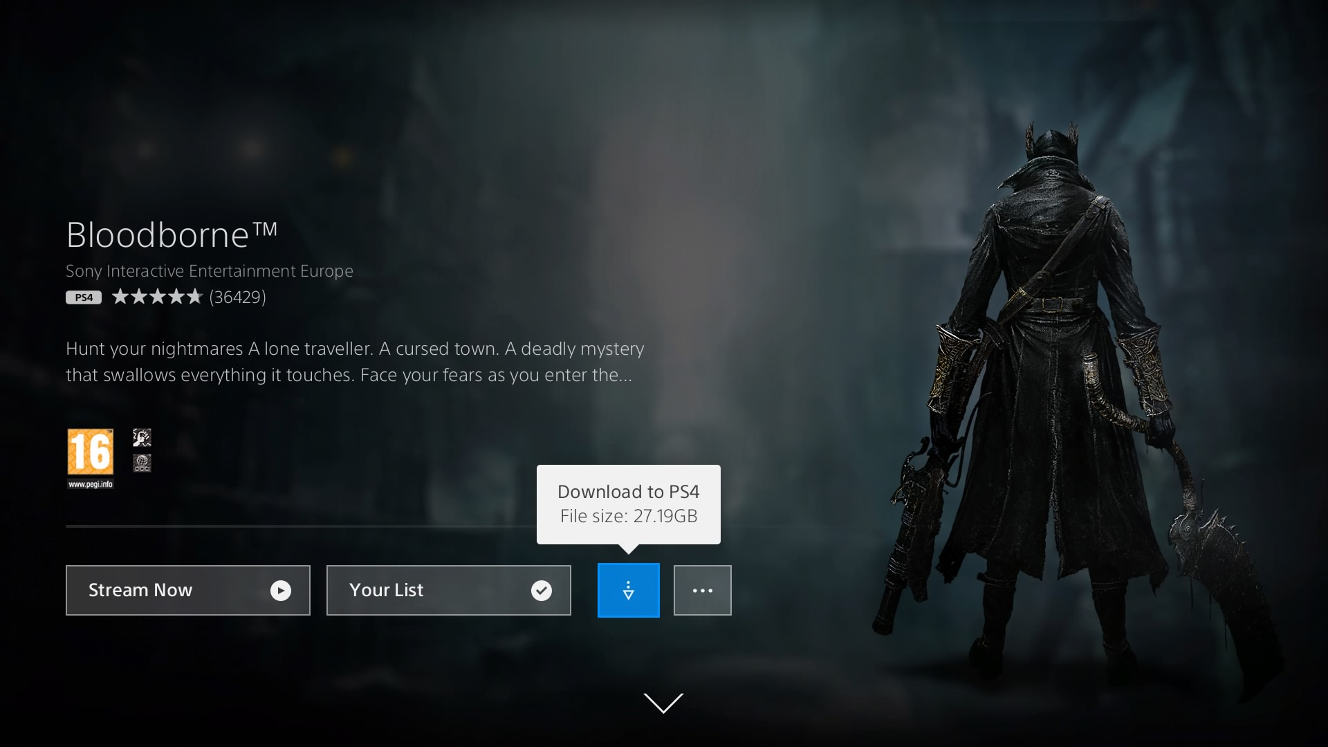 PlayStation Now review: Bloodborne download