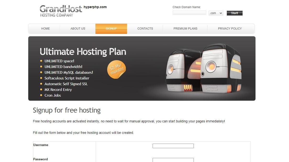 HyperPHP's homepage