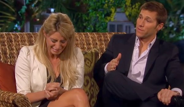 Bachelor Vienna cries as Jake handchops during breakup special with Chris Harrison ABC