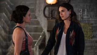 michelle rodriguez and jordana brewster in f9: the fast saga