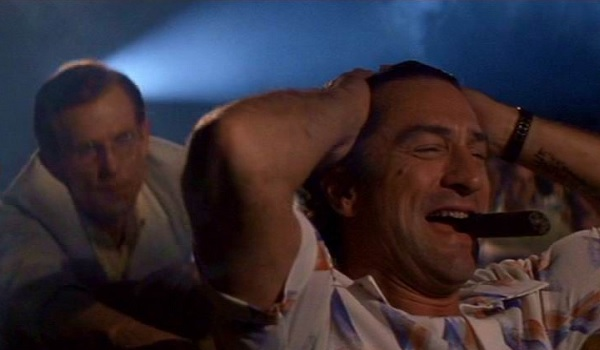 Cape Fear Robert De Niro laughs annoyingly in the middle of the theater