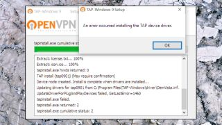 The OpenVPN installer attempts to install a TAP adapter as well as its own code