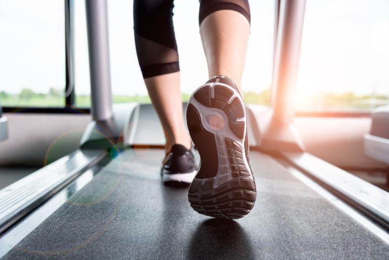Best treadmills: trainers on treadmill