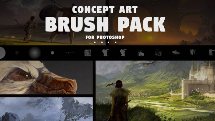 Photoshop brushes - concept art