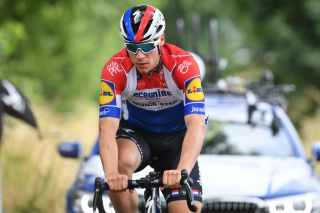 Dutch Fabio Jakobsen of Deceuninck QuickStep pictured in action during a training session in the Flemish Ardennes Wednesday 17 June 2020 in Zottegem With the phase three of the deconfinement pro cycling teams are back to training BELGA PHOTO DAVID STOCKMAN Photo by DAVID STOCKMANBELGA MAGAFP via Getty Images