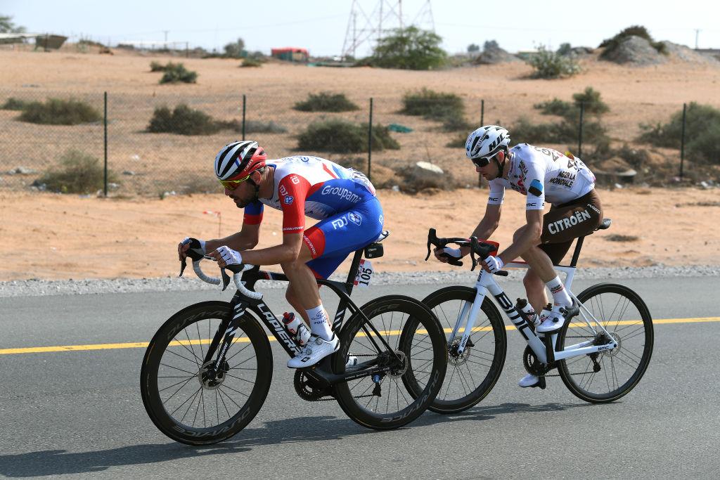 Le Gac and Bidard in the break at the UAE Tour
