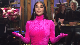 Screenshot of Kim Kardashian monologue on SNL