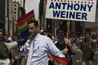 Anthony Weiner at New York Pride parade