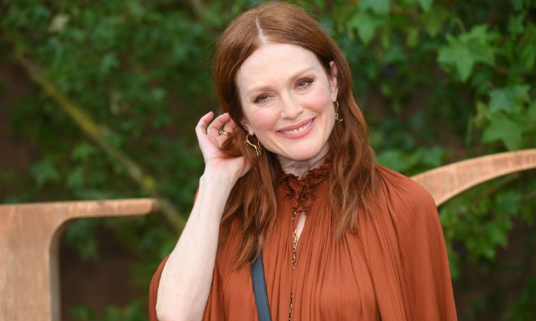 Julianne Moore attends the Christian Dior Womenswear Spring/Summer 2020 show as part of Paris Fashion Week on September 24, 2019 in Paris, France.