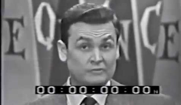 A Young Bob Barker hosting Truth Of Consequences