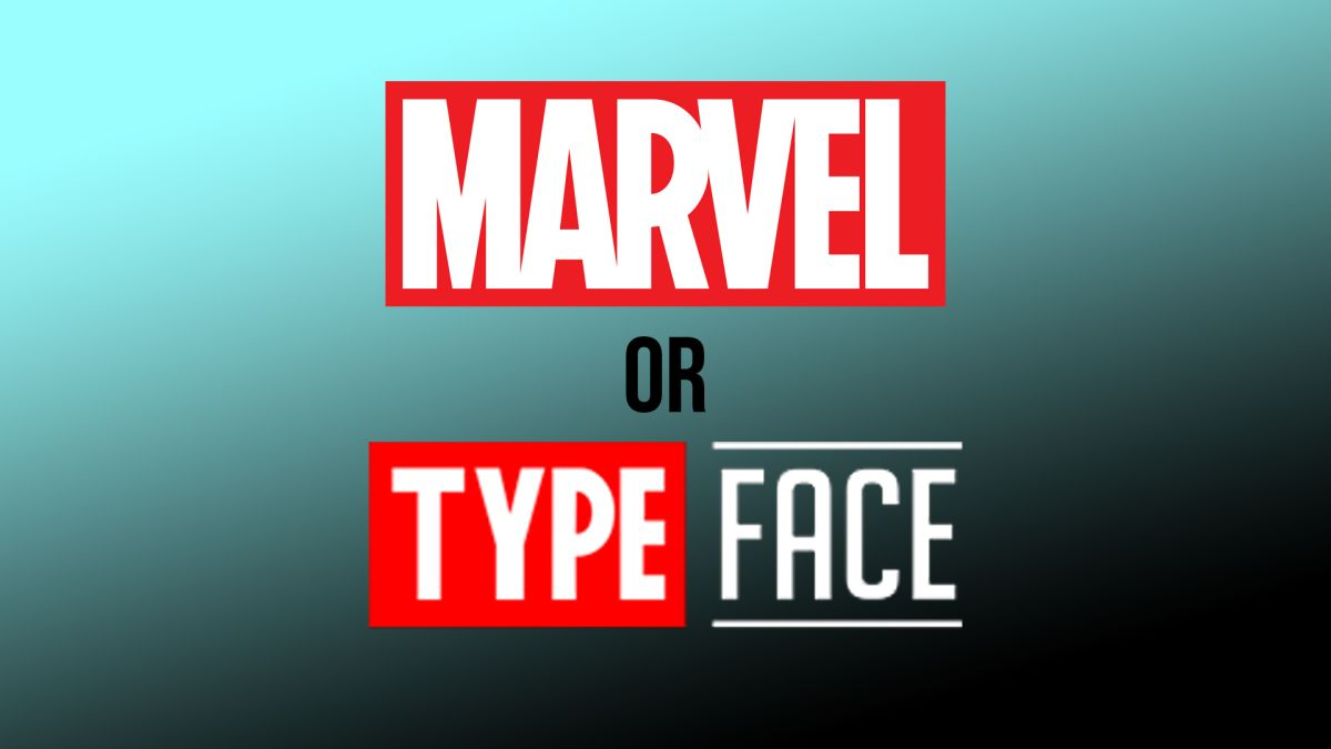 Can you tell the difference between Marvel character and font names?
