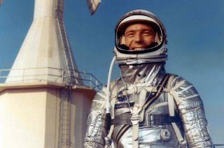 Original NASA astronaut Scott Carpenter, as seen in 1962 wearing his Mercury spacesuit, died Oct. 10, 2013.