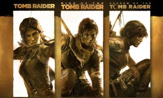 Three versions of Lara Croft as seen in the Definitive Survivor Trilogy